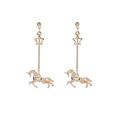 preiswerte Ohrringe-Damen Tropfen-Ohrringe - Pferd Einfach, Retro, Rockig Gold Für Ausgehen / Bar