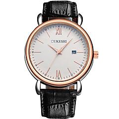 preiswerte Tolle Angebote auf Uhren-Herrn Quartz Armbanduhr Chinesisch Kalender Leder Band Freizeit Minimalistisch Modisch Schwarz Braun