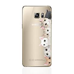 halpa Galaxy S6 Edge kotelot / kuoret-Etui Käyttötarkoitus Samsung Galaxy S8 Plus S8 Kuvio Takakuori Kissa Pehmeä TPU varten S8 Plus S8 S7 edge S7 S6 edge plus S6 edge S6