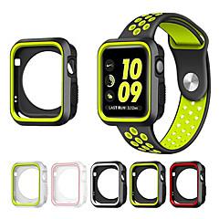 voordelige Apple Watch-hoesjes-voor appelwatch serie 1/2 38 / 42mm krasbestendige flexibele case slanke lichtgewicht beschermende bumper cover voeg band band