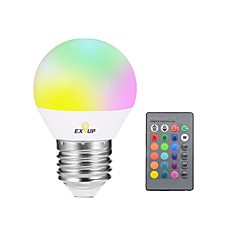 cheap LED Bulbs-1pc 5W E27 LED Smart Bulbs G45 1 LEDs Integrate LED Dimmable Remote-Controlled Decorative LED Lights RGB 400lm 2000-30000K AC 85-265V
