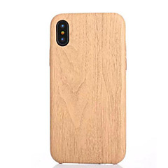 billige iPhone-etuier-Etui Til Apple iPhone X iPhone 8 iPhone 8 Plus iPhone 5 etui Mønster Bagcover Imiteret træ Blødt TPU for iPhone X iPhone 8 Plus iPhone 8