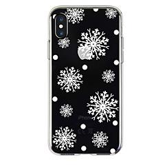 Недорогие Кейсы для iPhone X-Кейс для Назначение Apple iPhone X / iPhone 8 Прозрачный / С узором Кейс на заднюю панель Рождество Мягкий ТПУ для iPhone X / iPhone 8 Pluss / iPhone 8