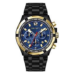 preiswerte Tolle Angebote auf Uhren-Herrn Armbanduhr Chinesisch Cool / Großes Ziffernblatt Edelstahl Band Luxus / Modisch Schwarz / Silber / Mitsubishi LR626