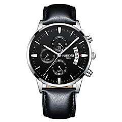 preiswerte Herrenuhren-Herrn Quartz Armbanduhr Chinesisch Kalender / Chronograph / Wasserdicht / Armbanduhren für den Alltag / Nachts leuchtend / leuchtend