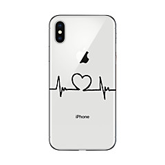 billige iPhone 6 Plus Plus-etuier-Etui Til Apple iPhone X iPhone 8 Plus iPhone 5 etui iPhone 6 iPhone 7 Ultratyndt Transparent Mønster Bagcover Hjerte Blødt TPU for iPhone