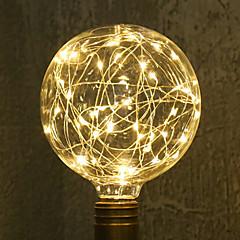 preiswerte LED-Birnen-1pc 3W 200lm E26 / E27 LED Glühlampen G95 33 LED-Perlen SMD sternenklar Dekorativ Warmes Weiß 85-265V