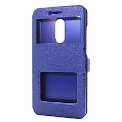 voordelige Hoesjes / covers voor Xiaomi-hoesje Voor Xiaomi Redmi Note 4X Redmi Note 4 Portemonnee met standaard met venster Flip Volledige behuizing Effen Kleur Hard PU-leer voor