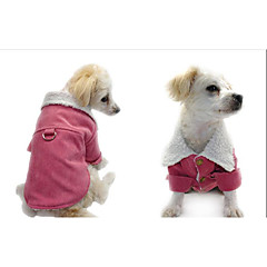 Cat Dog Coat Dog Clothes Casual/Daily Keep Warm Solid Red Black Costume For Pets