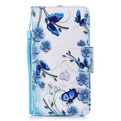 Недорогие Кейсы для iPhone 7 Plus-Кейс для Назначение Apple iPhone X iPhone 8 Plus Бумажник для карт Кошелек со стендом Флип Магнитный С узором Чехол Бабочка Твердый Кожа