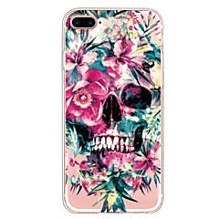 billige Etuier til iPhone 5S / SE-Etui Til Apple iPhone X iPhone 8 Plus Mønster Bagcover Dødningehoveder Blomst Blødt TPU for iPhone X iPhone 8 Plus iPhone 8 iPhone 7 Plus