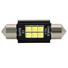 voordelige -4x 2018 nieuwe 39mm 12 v-24 v canbus 3030led foutvrij wit 31mm festoen kentekenverlichting lamp 6smd c5w