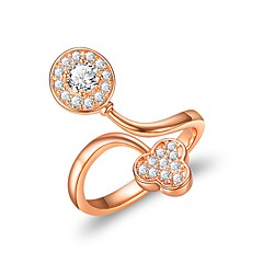 Women's Cuff Ring , Fashion European Copper Leaf Jewelry Bar Club