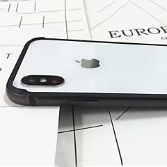Недорогие Кейсы для iPhone X-Кейс для Назначение Apple iPhone X iPhone X Защита от удара Бампер Сплошной цвет Твердый Металл для iPhone X