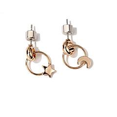 Women's Stud Earrings , Fashion Korean Alloy Moon Star Jewelry Daily Street