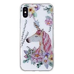 olcso iPhone tokok-Case Kompatibilitás Apple iPhone X iPhone 8 IMD Minta Hátlap Egyszarvú Csillogó Puha TPU mert iPhone X iPhone 8 Plus iPhone 8 iPhone 7