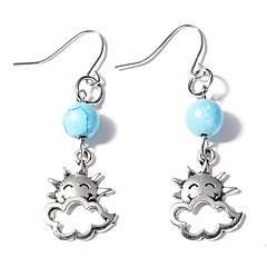 preiswerte Ohrringe-Damen Türkis Tropfen-Ohrringe - Türkis Sonne Einfach Silber Für Alltag