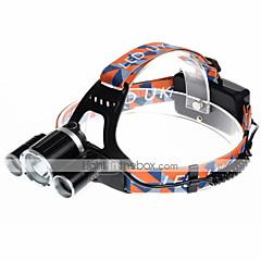 preiswerte Stirnlampen-U'King Stirnlampen Fahrradlicht LED LED 3000 lm 4.0 Beleuchtungsmodus inklusive Ladegeräten Kompakte Größe, Einfach zu tragen Camping / Wandern / Erkundungen