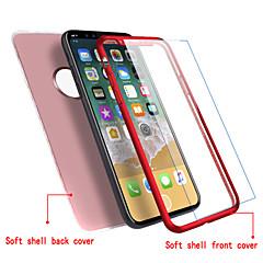 Недорогие Кейсы для iPhone 5-Кейс для Назначение Apple iPhone X iPhone 8 Ультратонкий Чехол Сплошной цвет Мягкий ТПУ для iPhone X iPhone 8 Pluss iPhone 8 iPhone 7