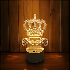 저렴한 LED 독특한 조명-1 세트 3D 야간 조명 DC 전원 USB 전원 밝기조절가능 색상-변화