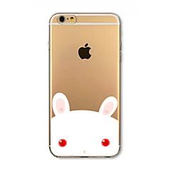 Недорогие Кейсы для iPhone 4s / 4-Кейс для Назначение Apple iPhone 8 iPhone 8 Plus Защита от удара Полупрозрачный С узором Кейс на заднюю панель Животное Мягкий ТПУ для