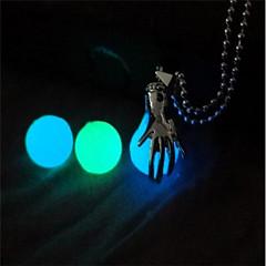 abordables Joyería Luminosa-Hombre Mujer Collares con colgantes - Moda, Luminoso Luminoso Azul Oscuro, Azul Claro, Verde claro Gargantillas Joyas 1 Para Mascarada, Bar