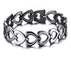 Men's Women's Chain Bracelet , Fashion Stainless Steel Heart Jewelry Gift Daily