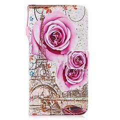 Недорогие Чехлы и кейсы для Huawei Mate-Кейс для Назначение Huawei Mate 10 lite Mate 10 Бумажник для карт Кошелек со стендом Флип Чехол Цветы Эйфелева башня Твердый Кожа PU для