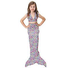 The Little Mermaid 수영복 비키니 키드 크리스마스 가장 무도회 페스티발 / 홀리데이 할로윈 의상 무지개 무지개