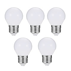 cheap LED Bulbs-EXUP® 5pcs 7W 680 lm E27 LED Globe Bulbs G45 10 leds SMD 5730 Dimmable Decorative LED Light Warm White Cold White AC 180-240