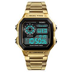 preiswerte Tolle Angebote auf Uhren-Herrn digital Digitaluhr Armbanduhr Sportuhr Japanisch Alarm Kalender Chronograph Wasserdicht Nachts leuchtend Stopuhr Duale Zeitzonen