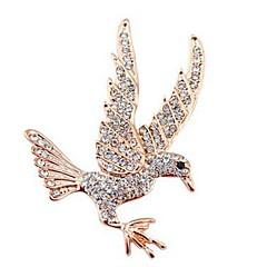 Недорогие Женские украшения-Броши - Искусственный бриллиант Eagle, Животный принт Классика, Мода Брошь Золотой Назначение Повседневные
