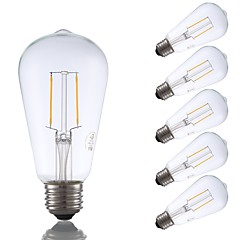 preiswerte LED-Birnen-GMY® 6pcs 2W 220lm E26 LED Glühlampen ST19 2 LED-Perlen COB Abblendbar Edison-Birne Dekorativ LED-Lampe Warmes Weiß 110-130V