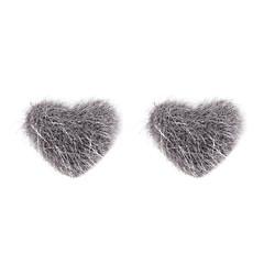 preiswerte Ohrringe-Damen Ohrstecker Kugel-Ohrringe - Pelz Herz Süß Rosa / Wein / Dunkelgrün Für Weihnachten Schultaschen