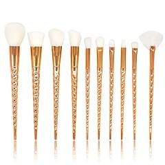 ieftine -10 piese Seturi perie Perie Blush Perie  Fard Perie Buze Perie Pudră Perie Fond Păr sintetic Acoperire Integrală Plastic Faţă