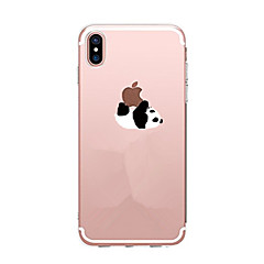 Case For Apple iPhone X iPhone 8 iPhone 8 Plus Ultra-thin Transparent Pattern Back Cover Panda Soft TPU for iPhone X iPhone 8 Plus iPhone