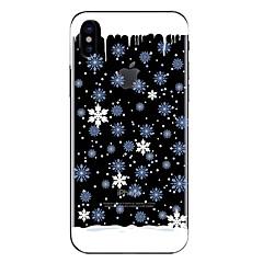 Недорогие Кейсы для iPhone X-Кейс для Назначение Apple iPhone X iPhone 8 Прозрачный С узором Кейс на заднюю панель Рождество Мягкий ТПУ для iPhone X iPhone 8 Pluss