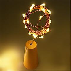 お買い得  LED ストリングライト-1m ストリングライト / LEDソーラーライト 10 LED 1Mストリングライト 温白色 / ホワイト / マルチカラー ソーラー駆動 / 防水 / 装飾用 <5 V 1個 / IP65