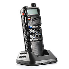 billige Walkie Talkies-Baofeng UV-5R-5W+3800L-black Walkie-talkie 4W / 1W (Max 5W) 128 136-174 mHz / 400-520MHz 3800mAh 3-5 kmFM-radio / Nødalarm /