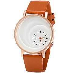 preiswerte Tolle Angebote auf Uhren-Damen Armbanduhr Quartz Armbanduhren für den Alltag PU Band Analog Freizeit Modisch Elegant Schwarz / Braun - Schwarz Kaffee