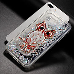 tanie Etui do iPhone 5S / SE-Kılıf Na Apple iPhone X iPhone 8 Z płynem Wzór Etui na tył Sowa Połysk Miękkie TPU na iPhone X iPhone 8 Plus iPhone 8 iPhone 7 Plus