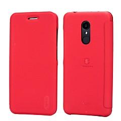 Χαμηλού Κόστους Θήκες / Καλύμματα για Xiaomi-tok Για Xiaomi Redmi 5 Redmi 5 Plus Redmi Σημείωση 5Α Θήκη καρτών Ανθεκτική σε πτώσεις Ανοιγόμενη Παγωμένη Συμπαγές Χρώμα Σκληρή για