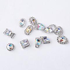 voordelige Kristalstrass-12 stks mode kleur intrige legering juweel nail art decoratie