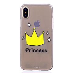 Недорогие Кейсы для iPhone 6-Кейс для Назначение Apple iPhone X iPhone 8 Защита от удара Ультратонкий С узором Задняя крышка Принцесса Мягкий TPU для iPhone X iPhone