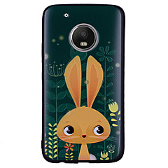 Недорогие Чехлы и кейсы для Motorola-Кейс для Назначение Motorola G5 Plus / G5 С узором Кейс на заднюю панель Кролик Мягкий Силикон для Мото G5 Plus / Moto G5 / Мото G4 Plus