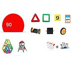 お買い得  積み木&ブロック-マグネットブロック おもちゃ トラック 建設車両 飛行機 おもちゃ 円形 方形 戦士 車載 アーキテクチャ 人物 動物 車 変形可能な 親子インタラクション 子供用 90 小品