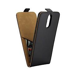 Недорогие Чехлы и кейсы для Huawei Mate-Кейс для Назначение Huawei Mate 10 pro Mate 10 lite Бумажник для карт со стендом Флип Чехол Сплошной цвет Твердый Искусственная кожа для
