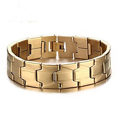 voordelige armband-Heren Armbanden met ketting en sluiting , Modieus Roestvast staal Cirkelvorm Sieraden Dagelijks