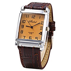 cheap Watch Deals-JUBAOLI Men's Women's Quartz Wrist Watch Chinese Casual Watch Leather Band Cool Brown