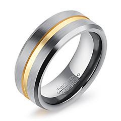 お買い得  指輪-男性用 バンドリング , シンプル カジュアル ファッション チタニウム スチール 円形 ジュエリー 日常 フォーマル